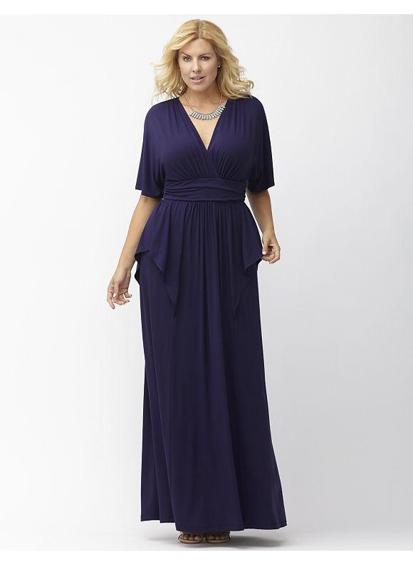 Plus Size Indie Flare maxi dress by Kiyonna Lane Bryant Women's Size 1X, blue - Lane Bryant ~ Trendy Plus Size Clothes