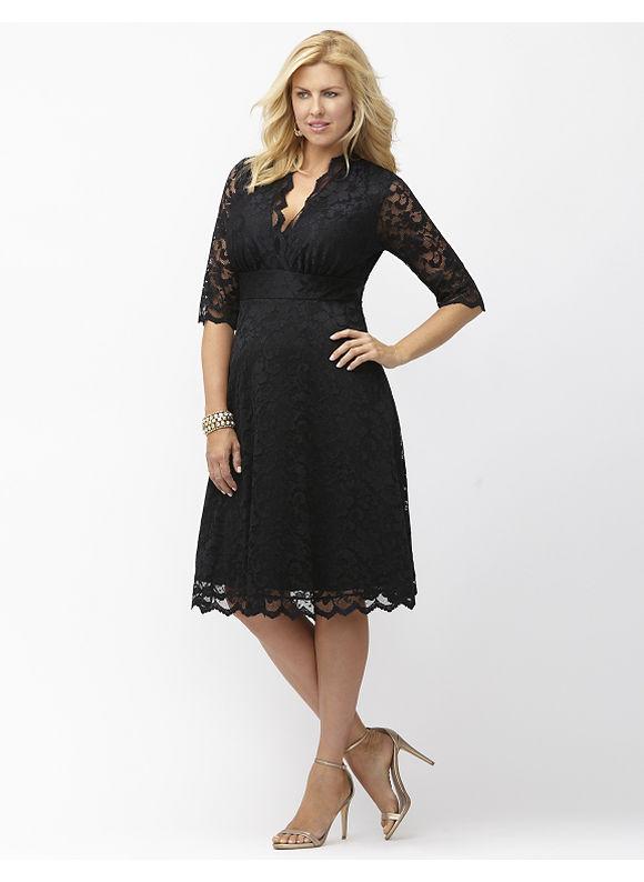 Plus Size Mademoiselle lace dress by Kiyonna Lane Bryant Women's Size 2X, black - Lane Bryant ~ Trendy Plus Size Clothes