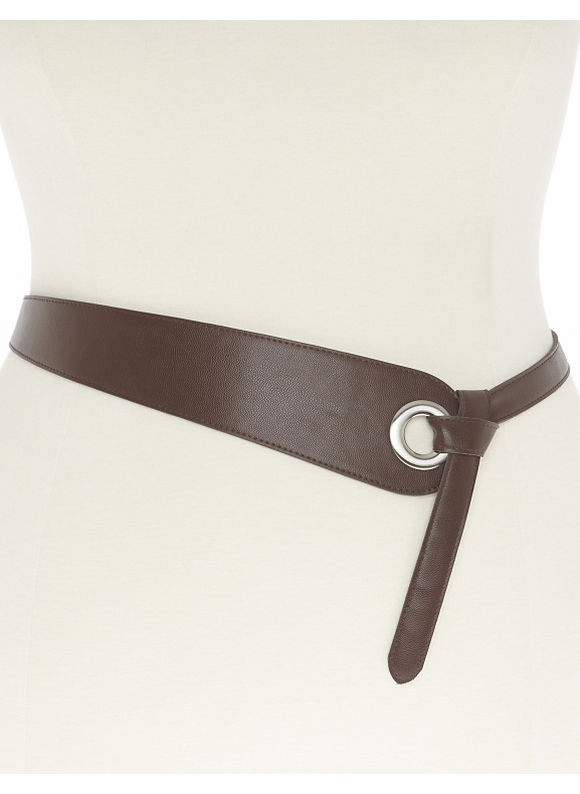 Lane Bryant Plus Size Grommet flip belt, brown