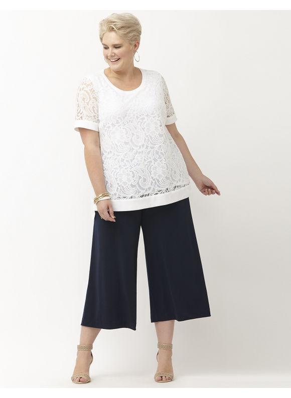 Lane Bryant Plus Size Jacqueline tunic by Lysse Size 1X, white - Lane Bryant ~ Trendy Plus Size Clothes