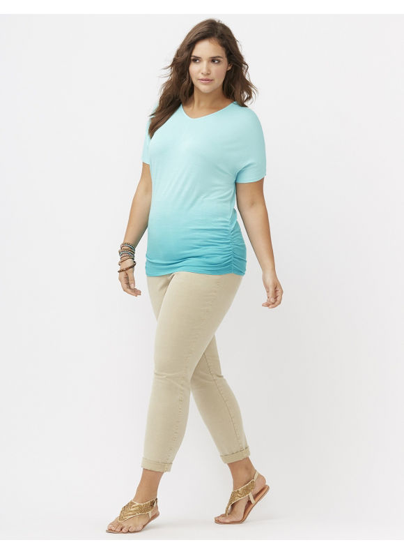 Lane Bryant Plus Size Softest chino Size 28, white