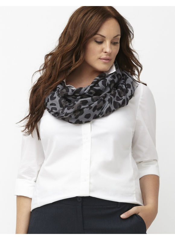Lane Bryant Plus Size Cheetah eternity scarf Size One Size, Black, Classic Camel - Lane Bryant ~ Trendy Plus Size Clothes