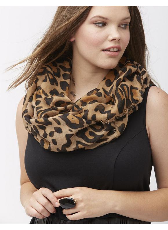 Lane Bryant Plus Size Cheetah eternity scarf Size One Size, Classic Camel - Lane Bryant ~ Trendy Plus Size Clothes