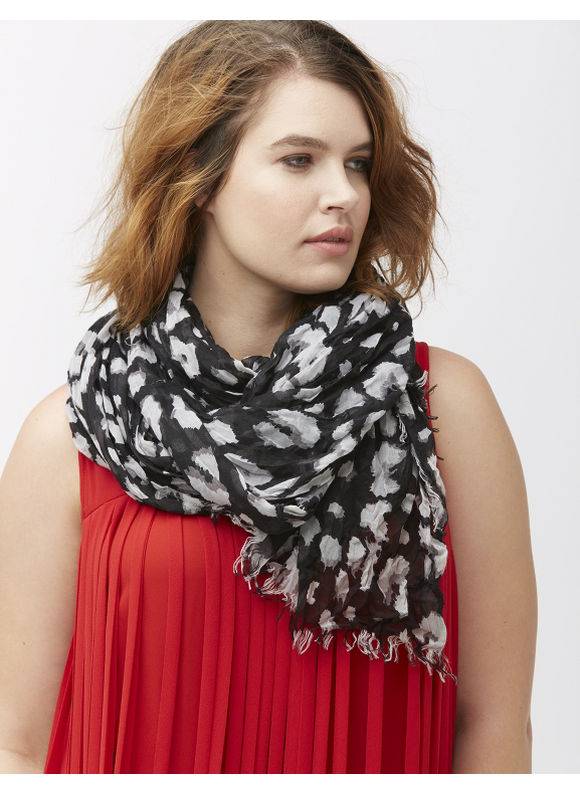 Lane Bryant Plus Size Animal print oblong scarf Size One Size, black - Lane Bryant ~ Trendy Plus Size Clothes