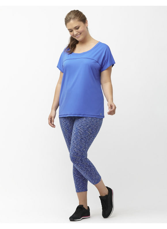 Lane Bryant Plus Size Wicking active capri legging Size 22/24, Dazzling Blue
