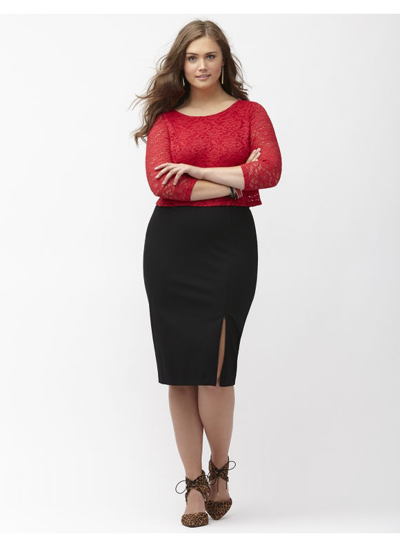 Black Pencil Skirt Plus Size - Skirts