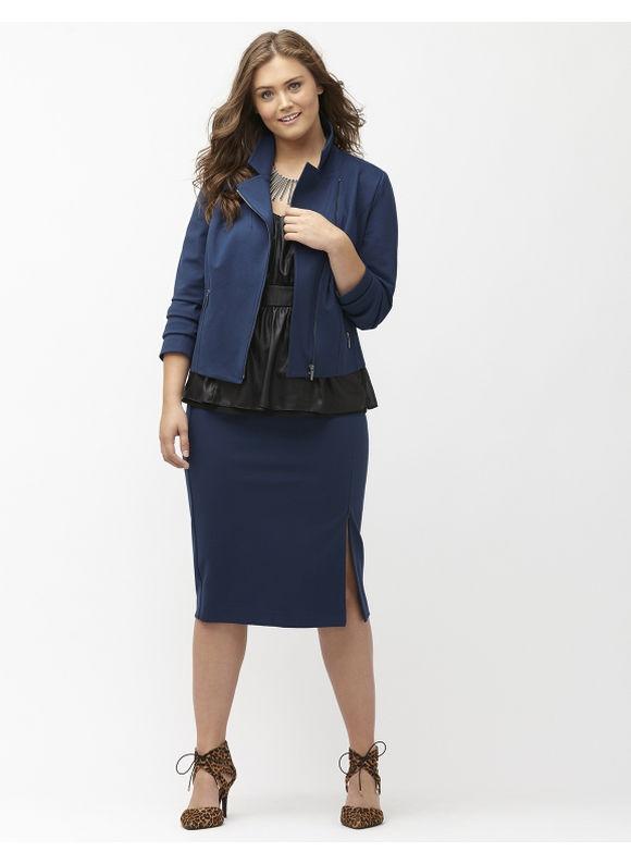 Fall Fashion Trend, The Midi Pencil Skirt #PlusSize #Fashion