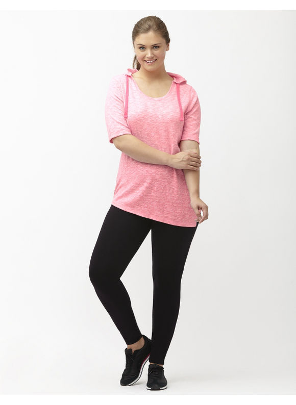 Lane Bryant Plus Size Asymmetric hacci hoodie Size 26/28, pink - Lane Bryant ~ Trendy Plus Size Clothes