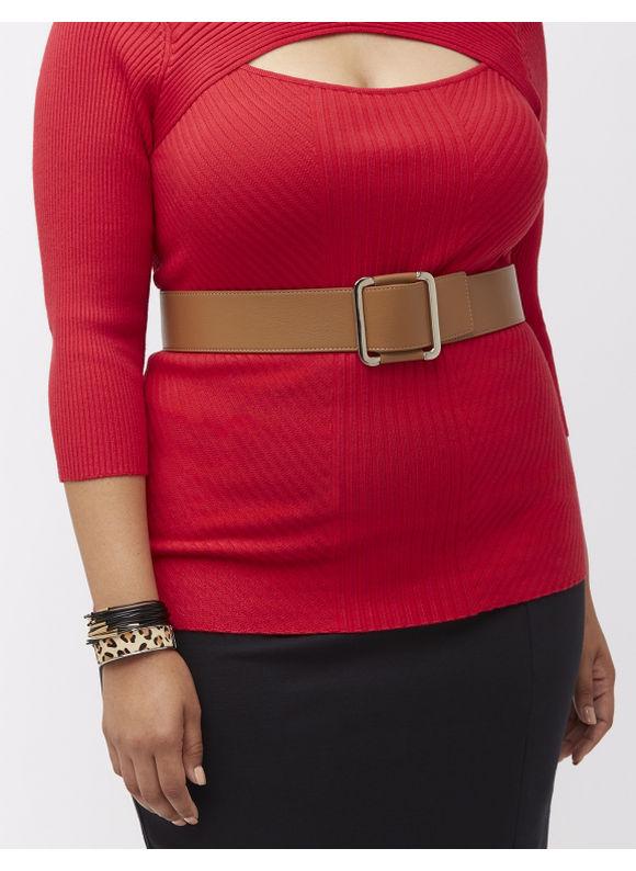 Lane Bryant Plus Size Metal front stretch belt Size 22/24, Classic Camel - Lane Bryant ~ Trendy Plus Size Clothes