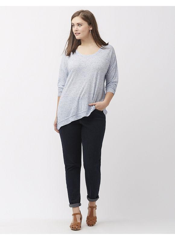 Lane Bryant Plus Size Asymmetric knit tunic, Blue