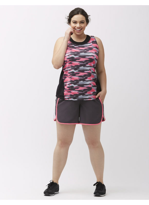 LIVI ACTIVE Plus Size Cooling active short, Grey