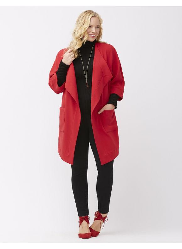 Jachetă lungă de damă, elegantă, plus size