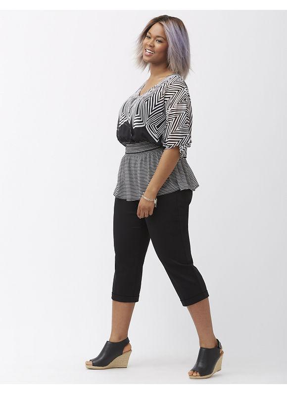 Lane Bryant Plus Size The Modernist Ashley Crop, Women's, Size: 16, Black