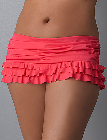 Slimming plus size Ruffle swim skirt