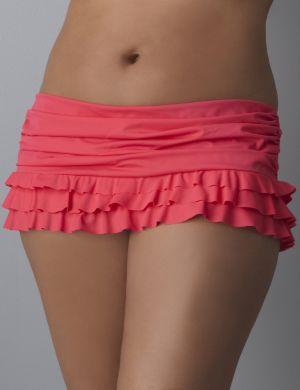 Ruffle swim skirt