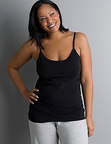 Plus Size Cami With Built In Shelf Bra - Backless Bra