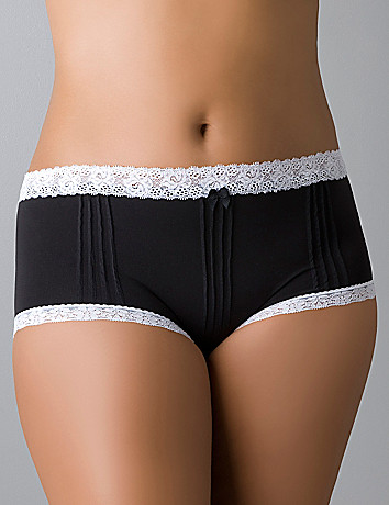 Comfy plus size Pintuck seamless boyshort panty