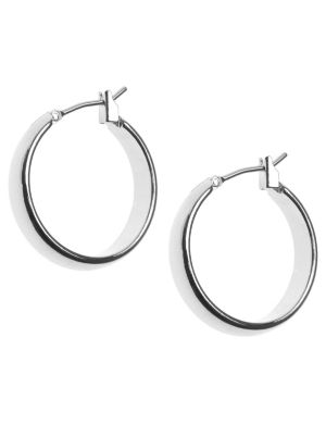 Small silvertone hoop earrings by Lane Bryant