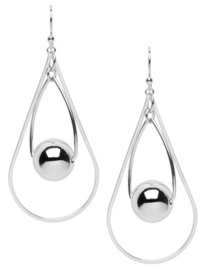 Double teardrop hoop earrings by Lane Bryant