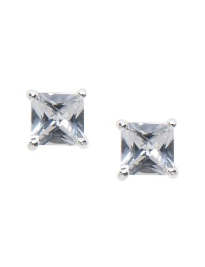 Small square cubic zirconium stud earrings by Lane Bryant