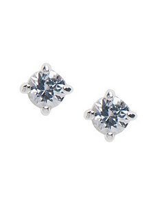 Small round cubic zirconium stud earrings by Lane Bryant