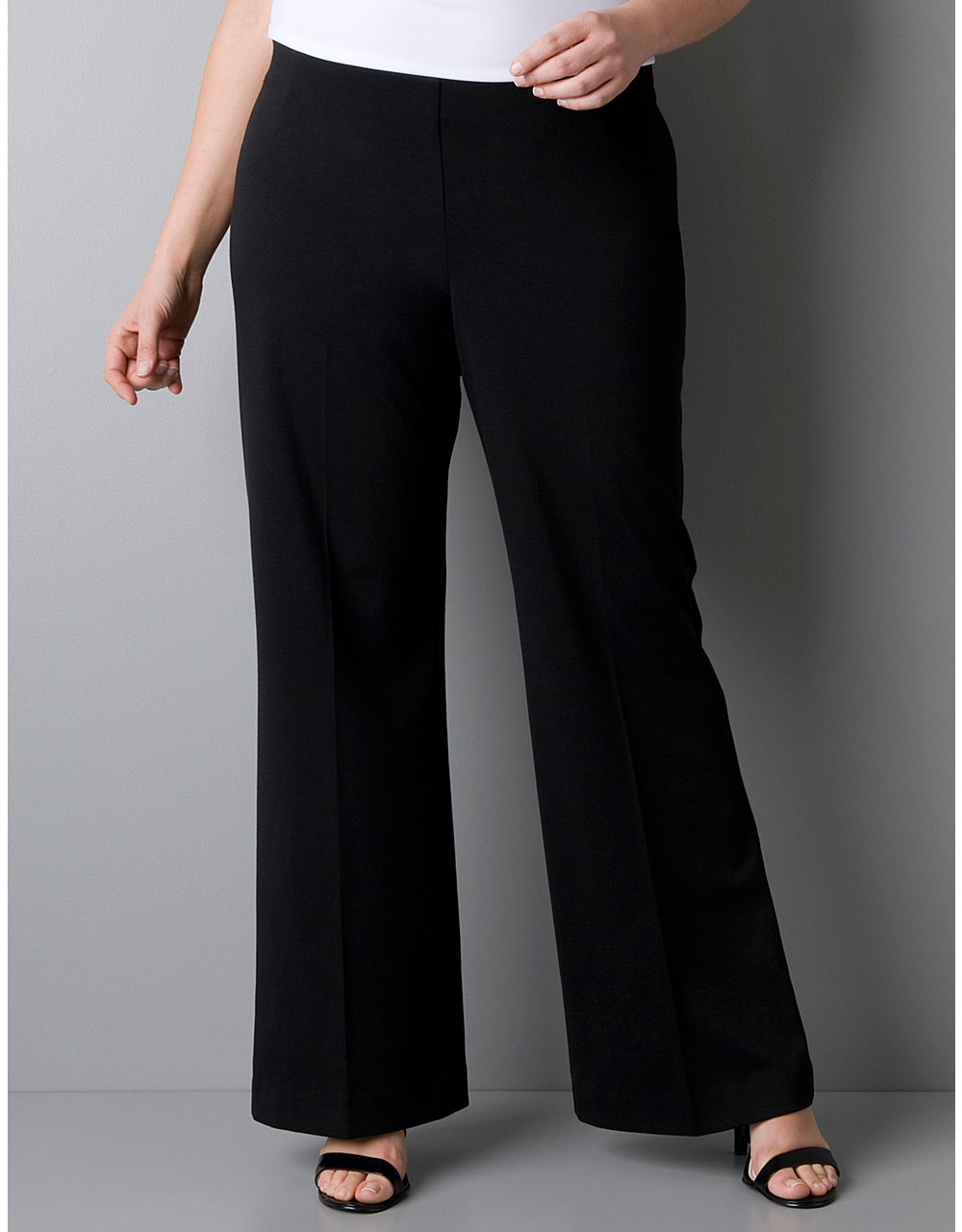 Plus size ponte knit wide leg pant | Lane Bryant