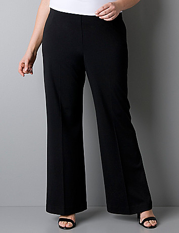 Ponte knit wide leg pant by Lane Bryant