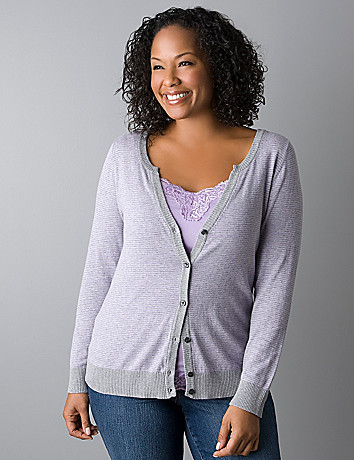 Long sleeve lightweight cardigan by Lane Bryant
