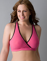 Cotton criss-cross sports bra by Marika