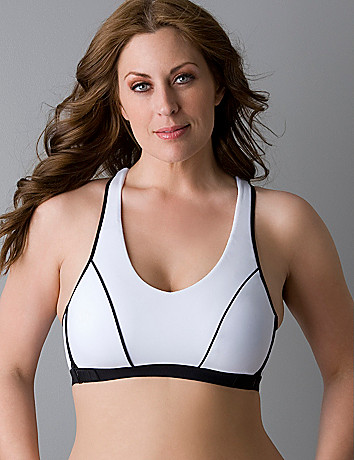 Microfiber racerback sports bra by Marika Miracles