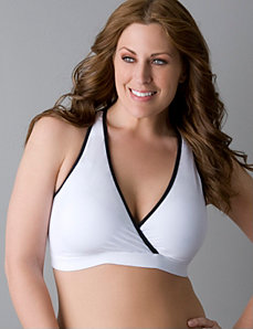 Microfiber criss-cross sports bra by Marika