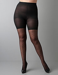 LADY wearing Black Spanks Body Shaping Plus Size Hosiery Stockings