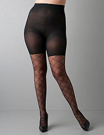 Full Figure Diamond Pattern Sheer Tights by SPANX