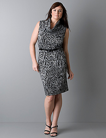Ponte knit cowl neck dress by Lane Bryant