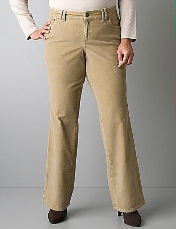 Plus size corduroy bootcut pant