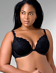 Lady Wearing Cacique Plus Size Bra