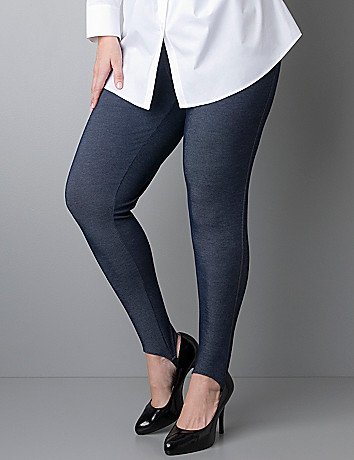 Denim stirrup legging by Lane Bryant