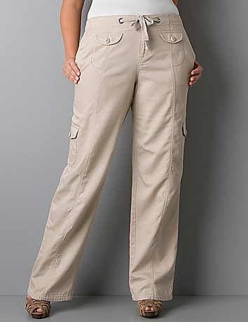 Drawstring cargo pant by Lane Bryant