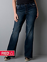 Lightly Flared jean with Right Fit Technology | Lane Bryant