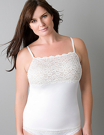 Plus size Slimming Lace Trimmed Cami