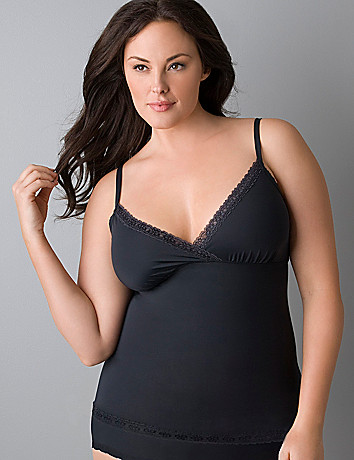 Plus size Slimming Surplice Cami