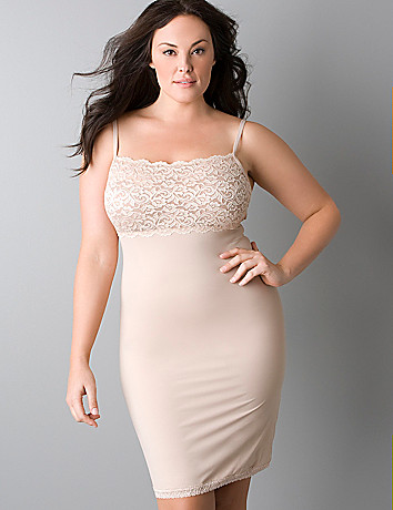Plus size Slimming Lace Trimmed Slip