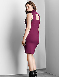 6th & Lane exposed back sheath dress