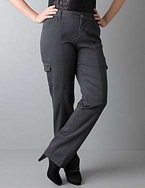 Plus size Straight leg cargo pants by DKNY JEANS | Lane Bryant