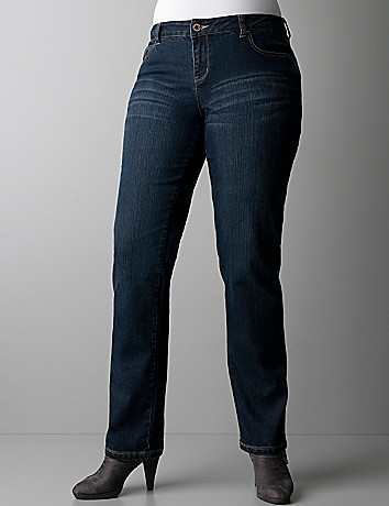 Plus size studded straight leg jeans by DKNY JEANS