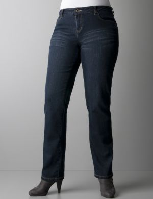 Studded straight leg jeans by DKNY JEANS