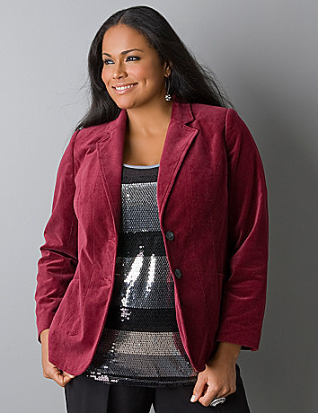 Velvet jacket by Lane Bryant