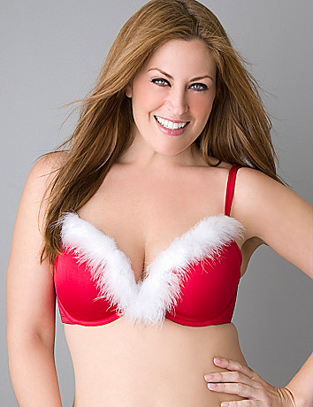 Plus size santa plunge bra