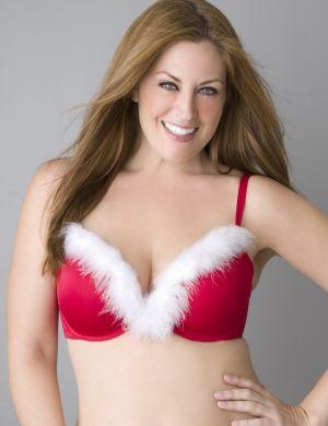 Santa plunge bra
