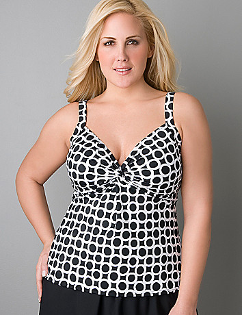 Ring pattern swim tank by Miraclesuit® in sizes 16 - 24